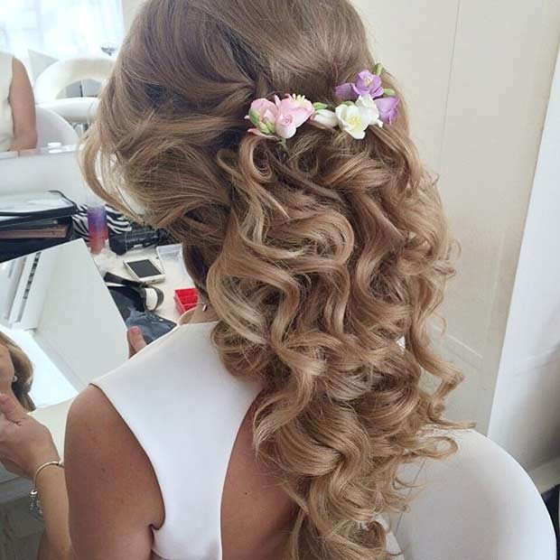 Best ideas about Prom Hairstyles Curly Down . Save or Pin 31 Half Up Half Down Prom Hairstyles Now.