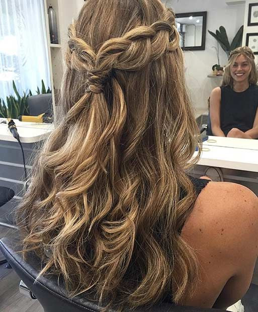 Best ideas about Prom Hairstyles Curly Down . Save or Pin 31 Half Up Half Down Hairstyles for Bridesmaids Now.