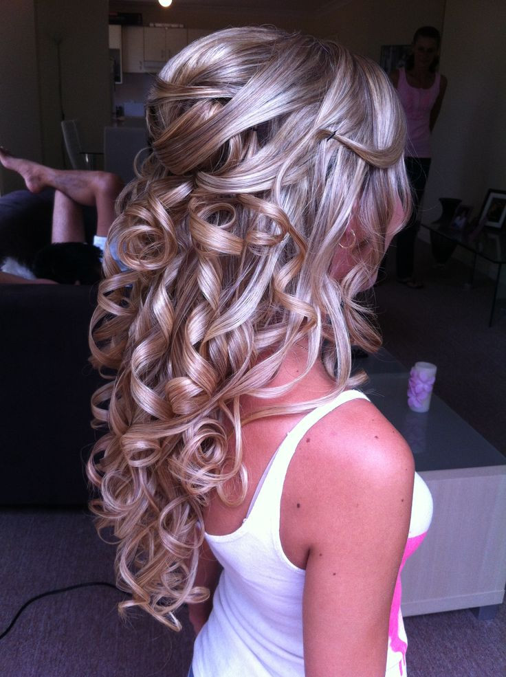 Best ideas about Prom Hairstyles Curly Down . Save or Pin half updo Bridal Hairstyles by Anna Poshe Now.
