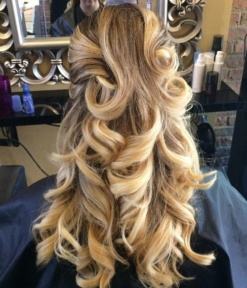 Best ideas about Prom Hairstyles Curly Down . Save or Pin 50 Half Up Half Down Hairstyles for Everyday and Party Looks Now.