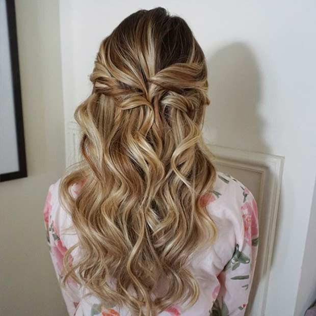 Best ideas about Prom Hairstyles Curly Down . Save or Pin 31 Half Up Half Down Prom Hairstyles Page 2 of 3 Now.