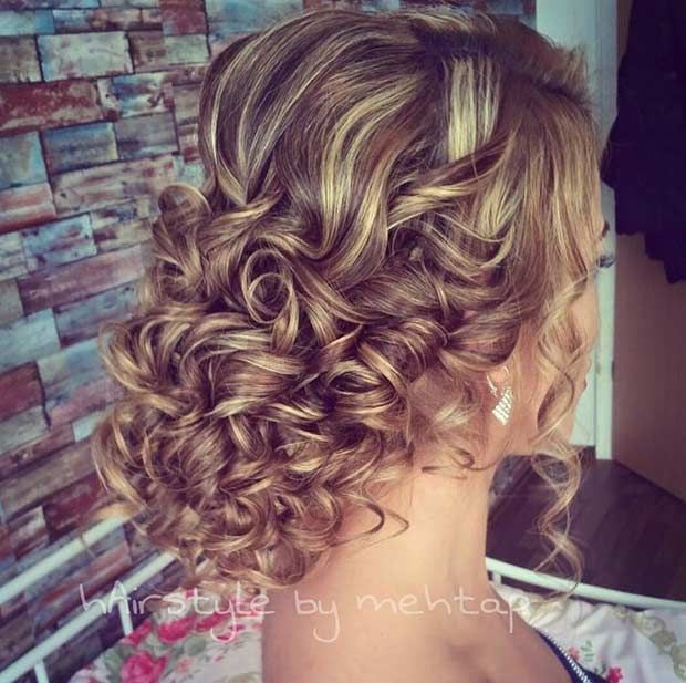 Best ideas about Prom Hairstyles For Curly Hair . Save or Pin 31 Most Beautiful Updos for Prom Prom Pinterest Now.