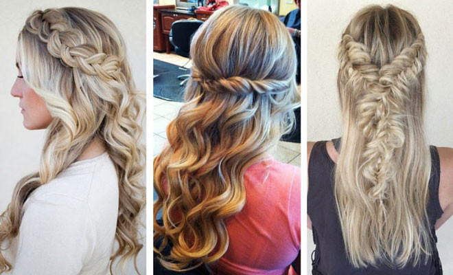Best ideas about Prom Hairstyles For Medium Hair Down . Save or Pin 26 Stunning Half Up Half Down Hairstyles Now.