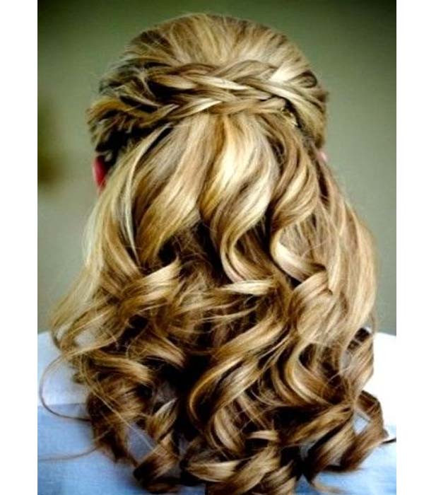 Best ideas about Prom Hairstyles For Medium Hair Down . Save or Pin Half up half down formal hairstyles for long hair Now.
