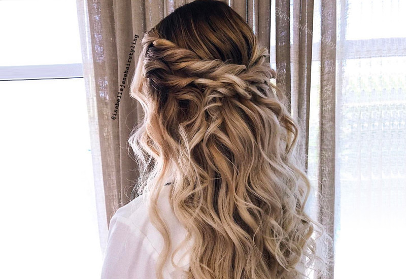 Best ideas about Prom Hairstyles For Medium Hair Down . Save or Pin 27 Prettiest Half Up Half Down Prom Hairstyles for 2019 Now.
