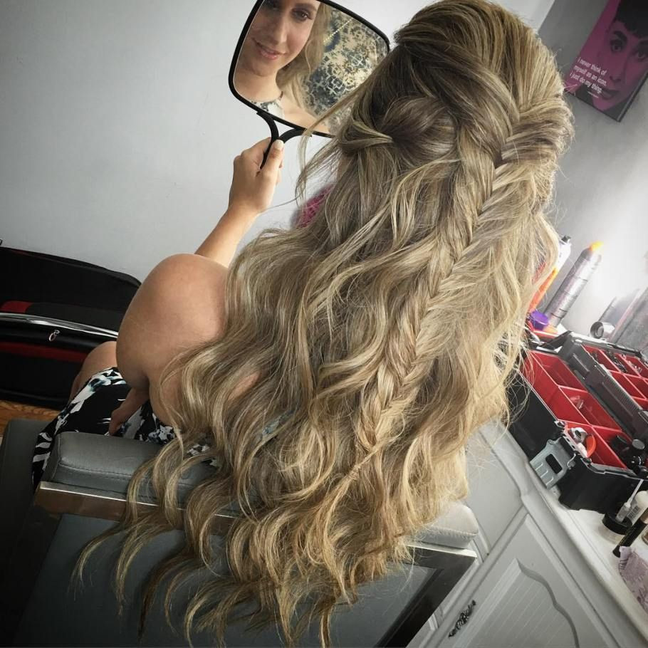 Best ideas about Prom Hairstyles For Medium Hair Down . Save or Pin 31 Gorgeous Half Up Half Down Hairstyles Now.