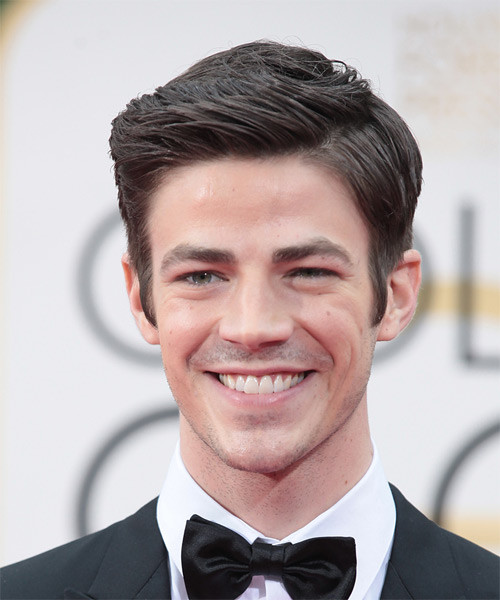 Best ideas about Prom Hairstyles For Men . Save or Pin Grant Gustin Formal Short Straight Hairstyle Now.