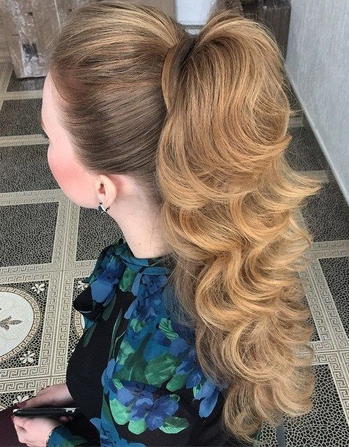 Best ideas about Prom Hairstyles Ponytail . Save or Pin Best 25 High ponytail hairstyles ideas on Pinterest Now.