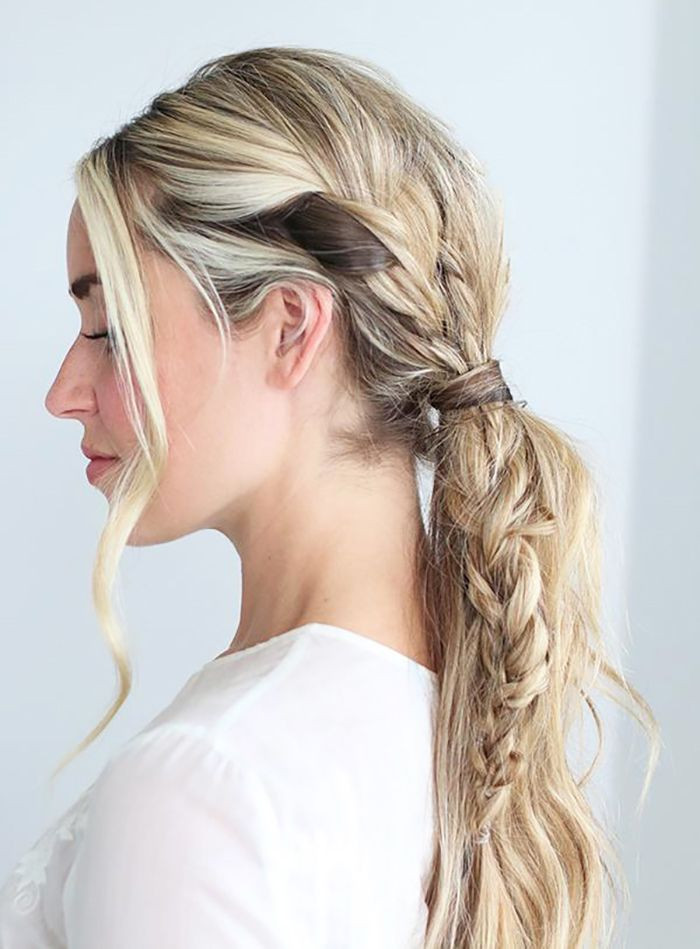 Best ideas about Prom Hairstyles Ponytail . Save or Pin 17 best ideas about Braid Ponytail on Pinterest Now.
