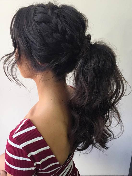 Best ideas about Prom Hairstyles Ponytails . Save or Pin 27 Gorgeous Prom Hairstyles for Long Hair Now.