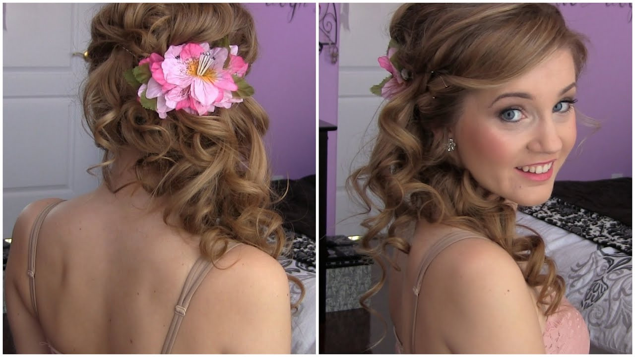 Best ideas about Prom Hairstyles To The Side . Save or Pin Side Swept Cascading Curls Easy DIY Prom HAIR TUTORIAL Now.