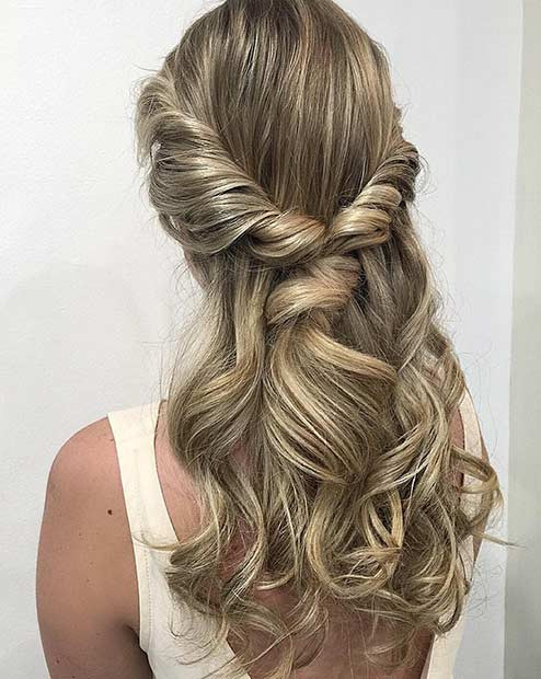 Best ideas about Prom Half Up Half Down Hairstyles . Save or Pin 31 Half Up Half Down Prom Hairstyles Page 2 of 3 Now.