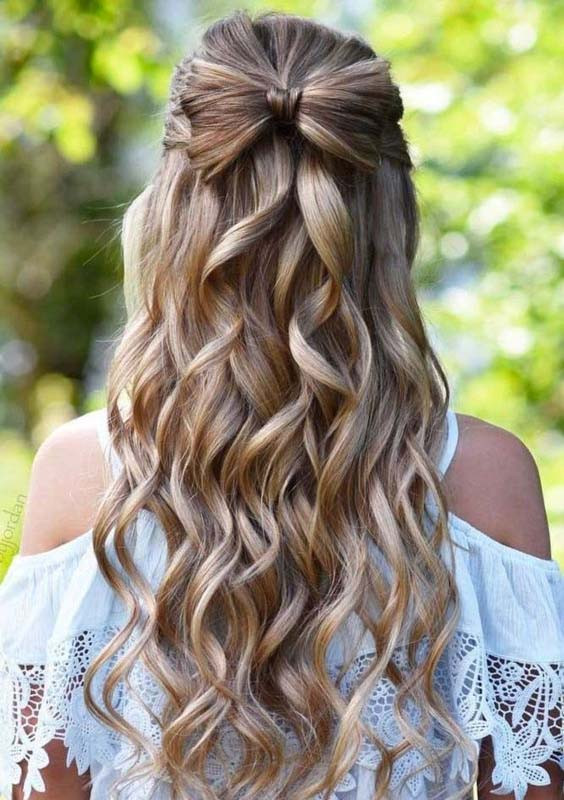 Best ideas about Prom Half Up Half Down Hairstyles . Save or Pin Half up half down prom hairstyles Now.