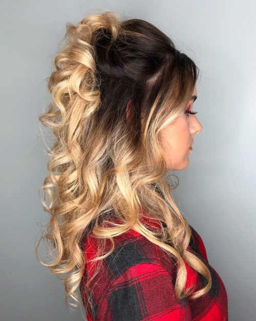 Best ideas about Prom Half Up Half Down Hairstyles . Save or Pin 27 Prettiest Half Up Half Down Prom Hairstyles for 2019 Now.
