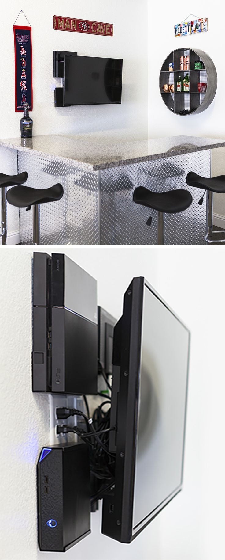 Best ideas about Ps4 Wall Mount DIY . Save or Pin 17 Best ideas about Wall Behind Tv on Pinterest Now.