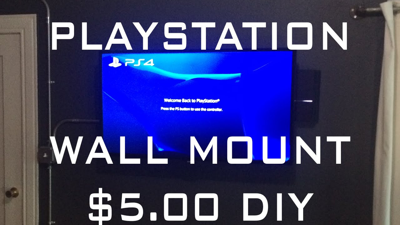 Best ideas about Ps4 Wall Mount DIY . Save or Pin DIY PLAYSTATION WALL MOUNT ONLY $5 00 FULL TUTORIAL Now.