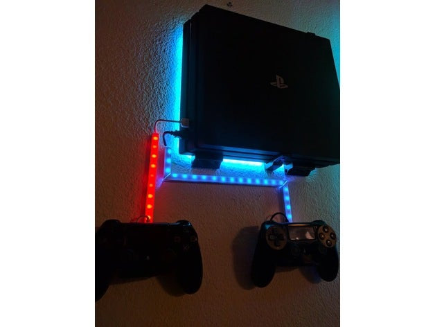 Best ideas about Ps4 Wall Mount DIY . Save or Pin PS4 Pro Wall Mount by wqwdpxd Thingiverse Now.
