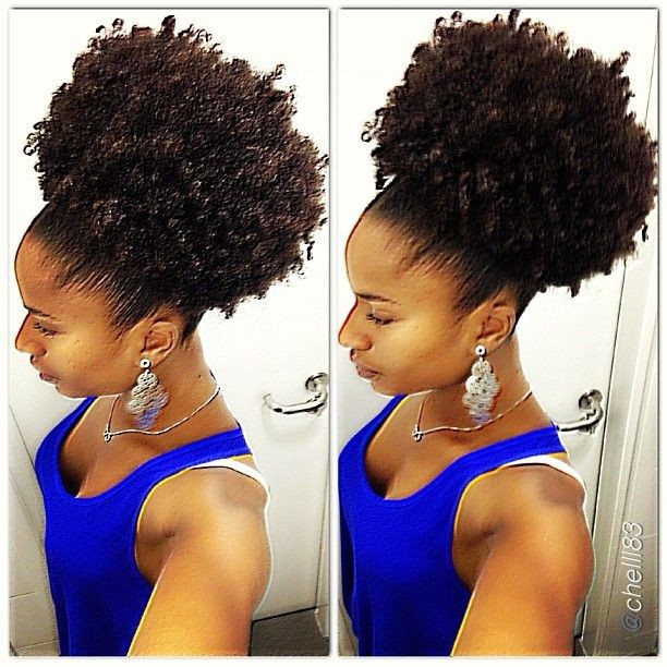 Best ideas about Puff Hairstyles For Natural Hair . Save or Pin 193 best 05 Natural Hair Updo Bun Style images on Now.