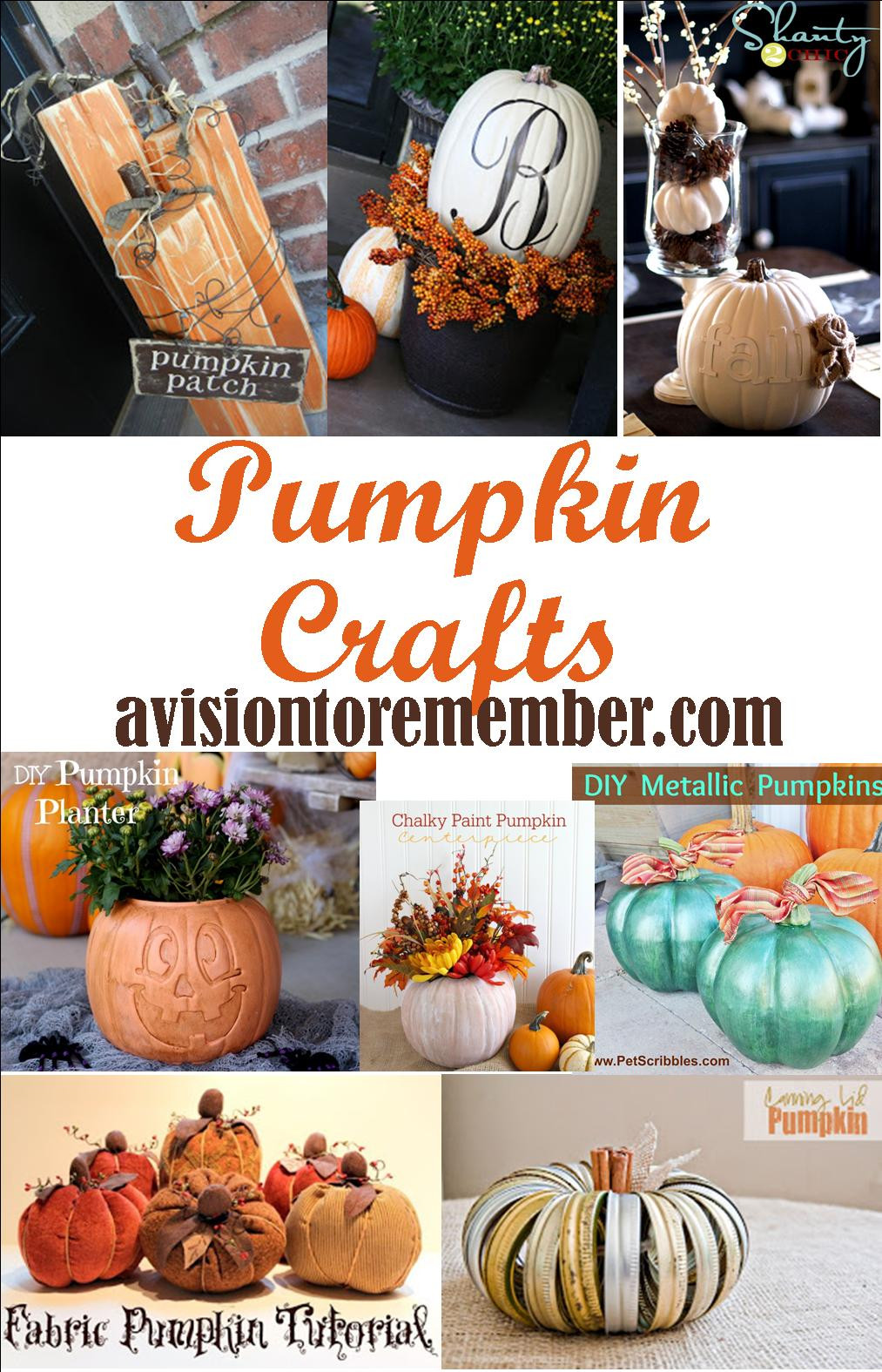Best ideas about Pumpkin Craft Ideas . Save or Pin Easy and Fun Pumpkin Crafts Ideas Now.