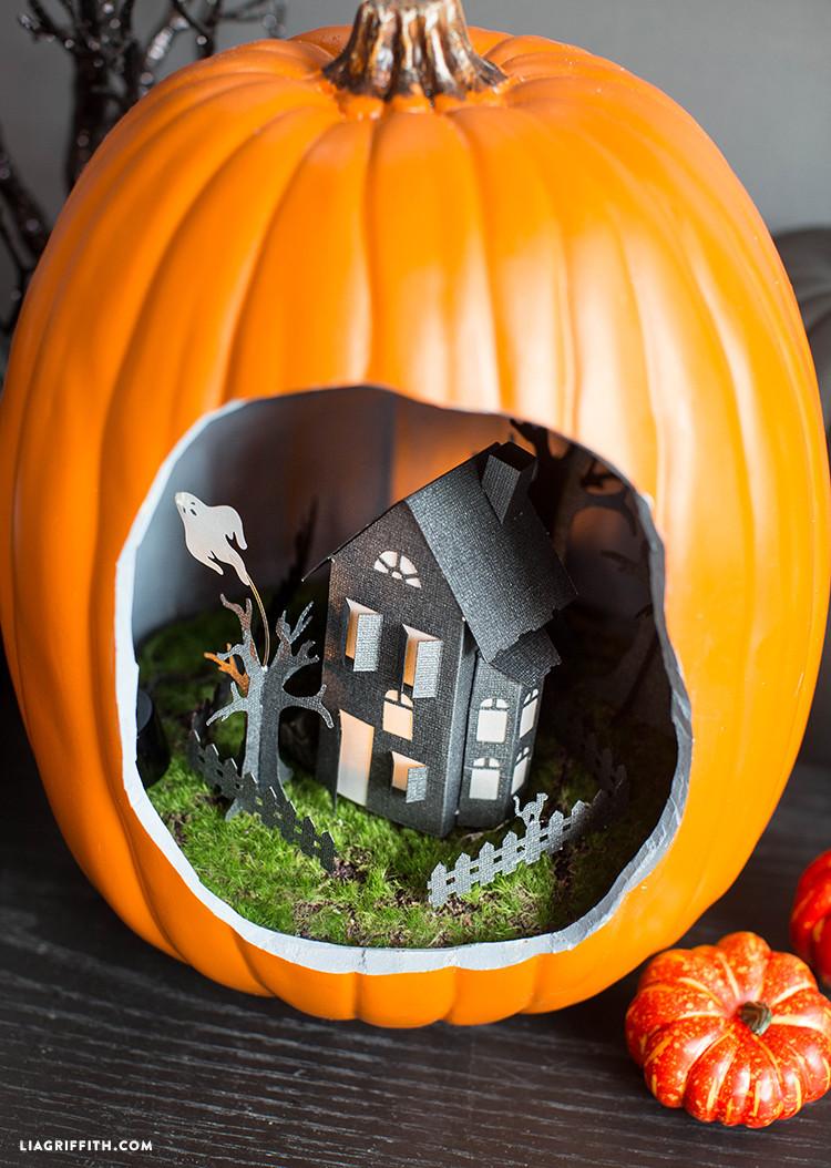 Best ideas about Pumpkin Craft Ideas . Save or Pin Halloween Pumpkin Diorama Lia Griffith Now.