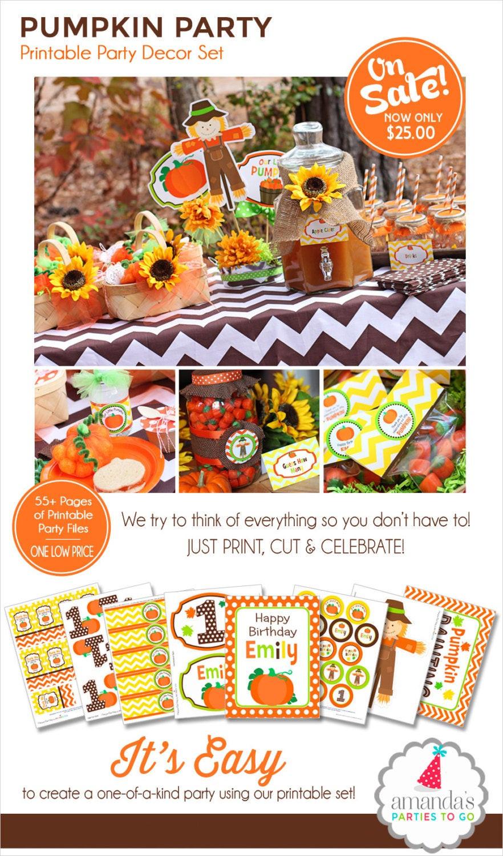 Best ideas about Pumpkin Patch Birthday Party . Save or Pin Pumpkin Patch Party Printable Pumpkin Birthday My Little Now.