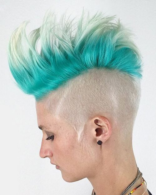 Best ideas about Punk Hairstyles Female . Save or Pin 35 Short Punk Hairstyles to Rock Your Fantasy Now.