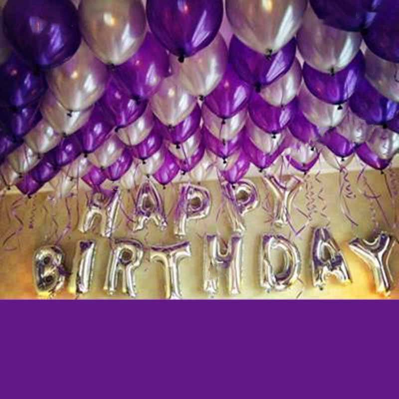 Best ideas about Purple And Silver Birthday Decorations . Save or Pin 1 Set Aluminum foil balloon packages Purple birthday Now.