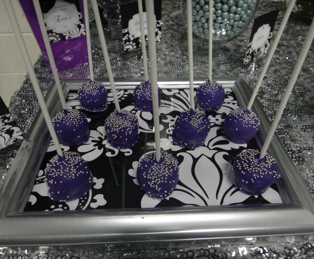 Best ideas about Purple And Silver Birthday Decorations . Save or Pin Purple Black White and Silver Birthday Party Ideas Now.