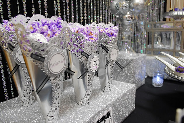 Best ideas about Purple And Silver Birthday Decorations . Save or Pin 1000 ideas about Popcorn Cones on Pinterest Now.