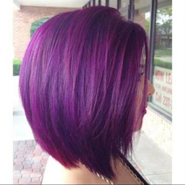 Best ideas about Purple Bob Hairstyles . Save or Pin Bob Hairstyles With Purple Highlights Now.