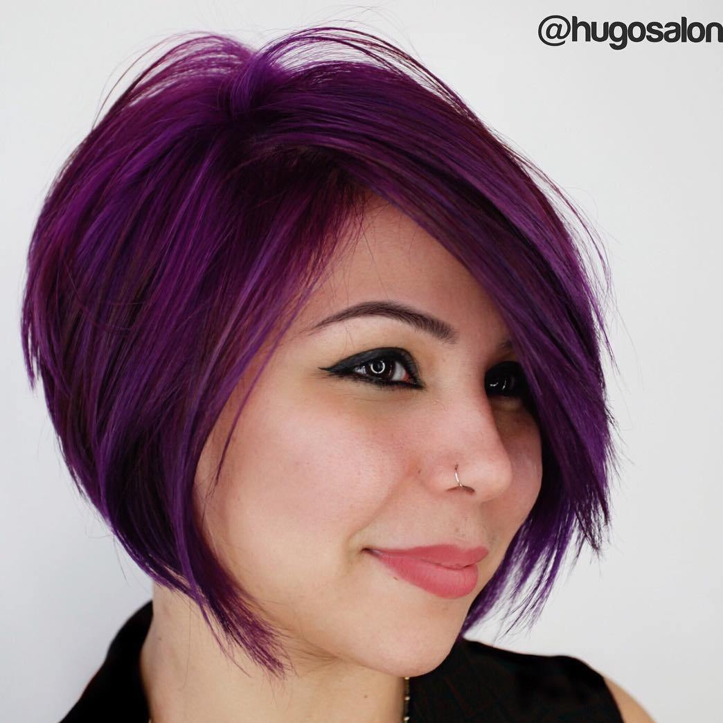 Best ideas about Purple Bob Hairstyles . Save or Pin 40 Layered Bob Styles Modern Haircuts with Layers for Any Now.