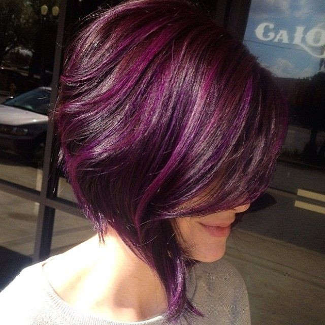 Best ideas about Purple Bob Hairstyles . Save or Pin 15 Fantastic Purple Hairstyles Pretty Designs Now.