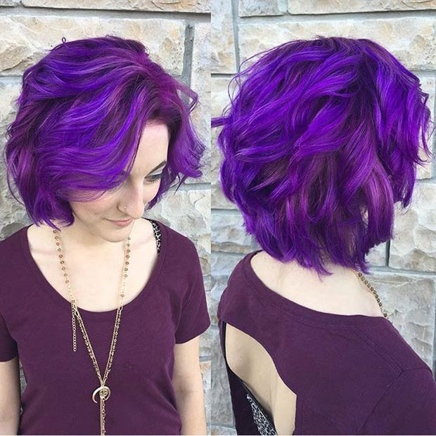 Best ideas about Purple Bob Hairstyles . Save or Pin 21 Looks That Will Make You Crazy for Purple Hair Now.