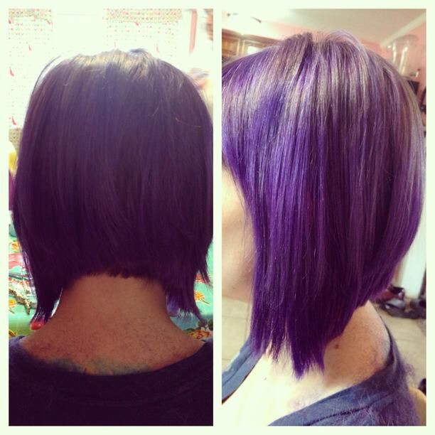 Best ideas about Purple Bob Hairstyles . Save or Pin Purple bob Hair hair hair Now.