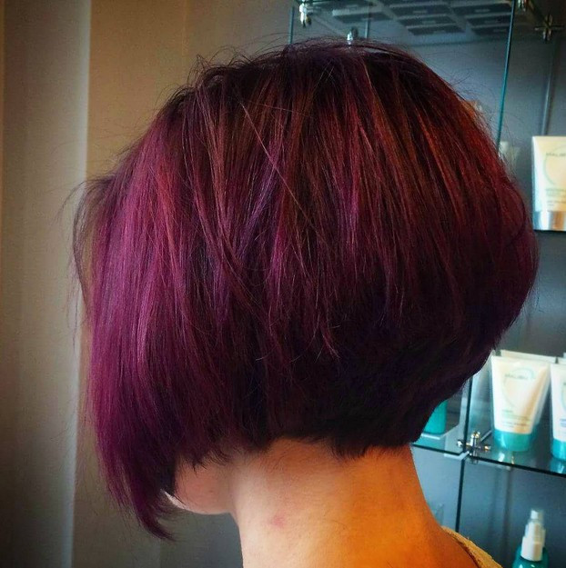 Best ideas about Purple Bob Hairstyles . Save or Pin 22 Stacked Bob Hairstyles for Your Trendy Casual Looks Now.