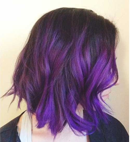 Best ideas about Purple Bob Hairstyles . Save or Pin 35 Bob Hair Cuts Short Hairstyles 2017 2018 Now.