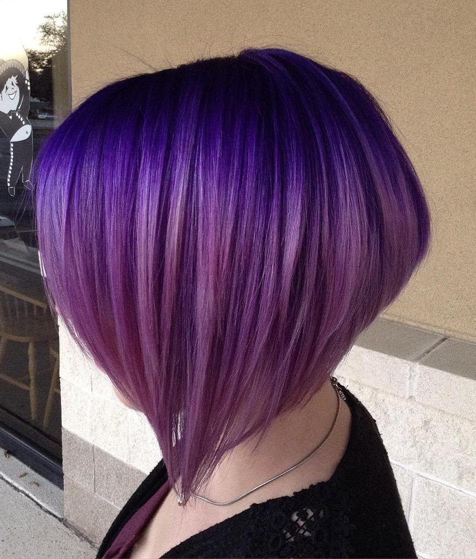 Best ideas about Purple Bob Hairstyles . Save or Pin 40 Versatile Ideas of Purple Highlights for Blonde Brown Now.