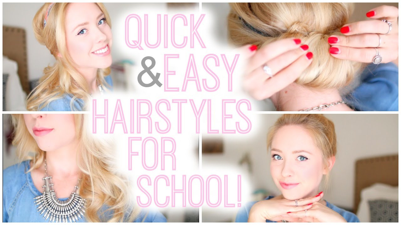 Best ideas about Quick And Easy Hairstyle For School . Save or Pin Quick and Easy Hairstyles For School Now.