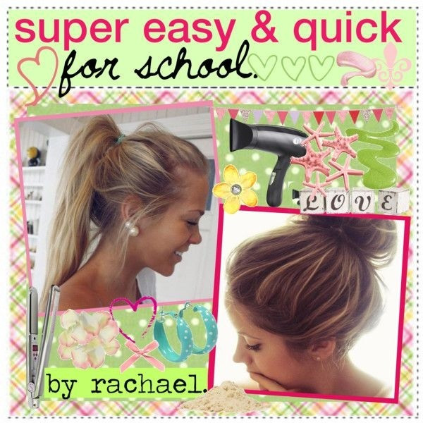 Best ideas about Quick And Easy Hairstyle For School . Save or Pin 23 Beautiful Hairstyles for School Now.