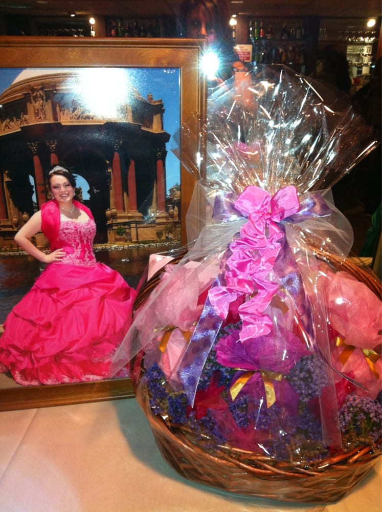 Best ideas about Quinceanera Surprise Gift Ideas . Save or Pin Gift basket for a Quinceañera Now.