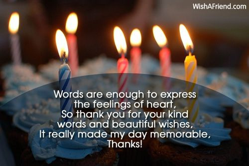 Best ideas about Quotation Birthday Wishes . Save or Pin Thank You For The Birthday Wishes Now.