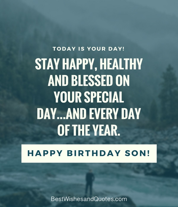 "Best ideas about Quotes For Sons Birthday . Save or Pin 35 Unique and Amazing ways to say ""Happy Birthday Son"" Now."