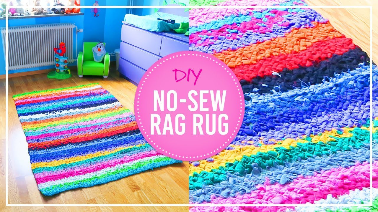 Best ideas about Rag Rug DIY . Save or Pin DIY No Sew Rag Rug Now.