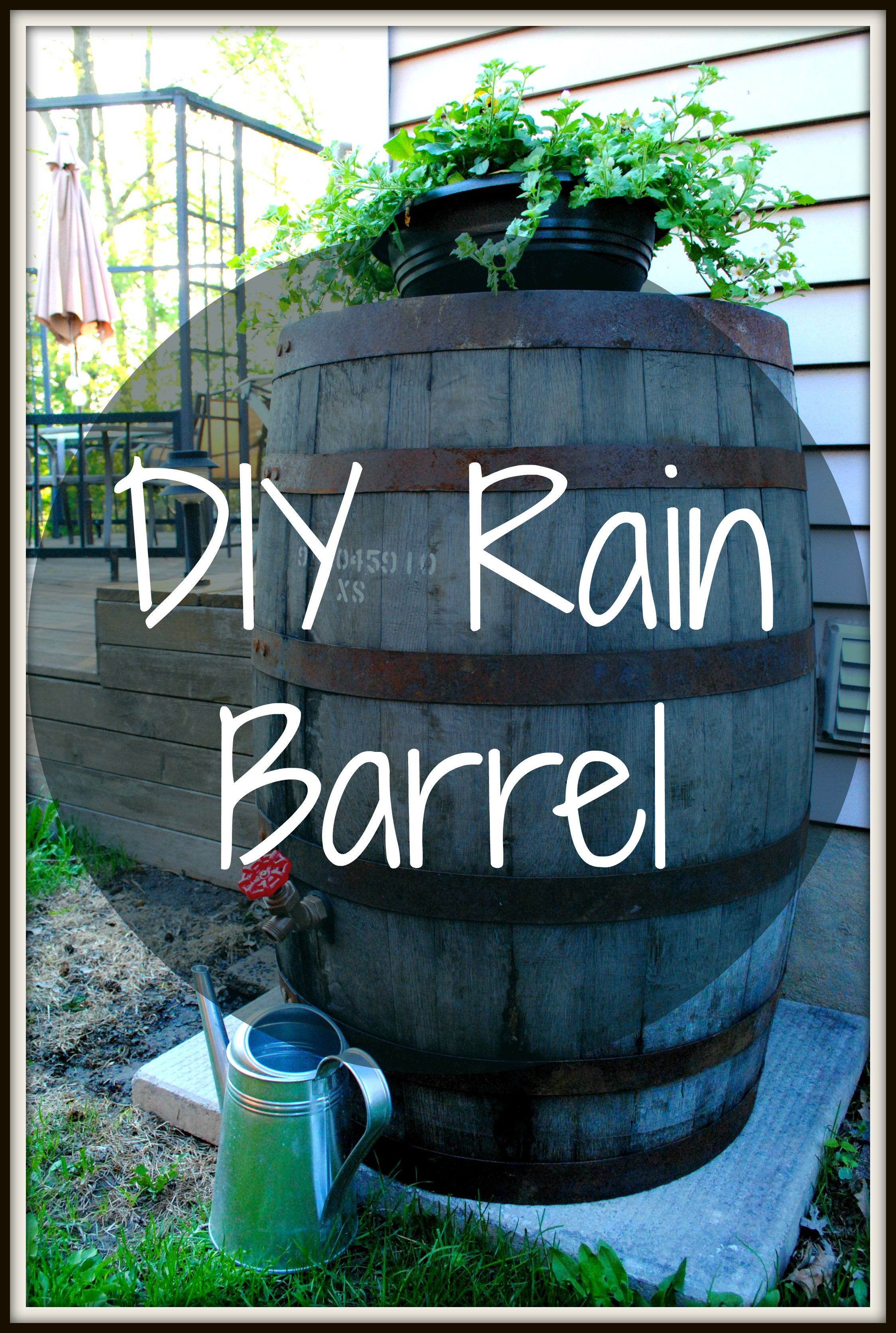 Best ideas about Rain Barrel DIY . Save or Pin Whiskey into Water Rain Barrel DIY Now.