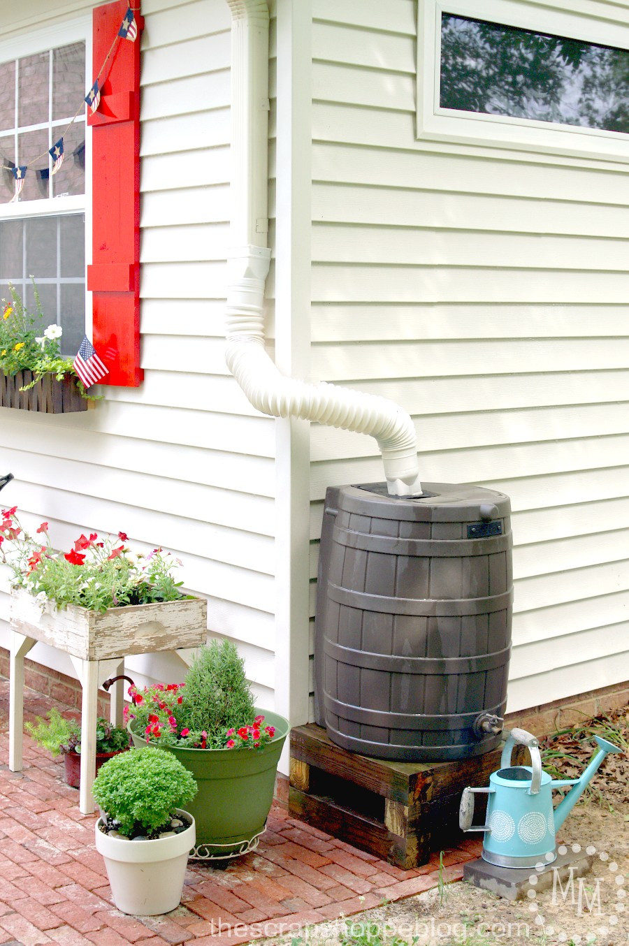 Best ideas about Rain Barrel DIY . Save or Pin How to Install a Rain Barrel The Scrap Shoppe Now.