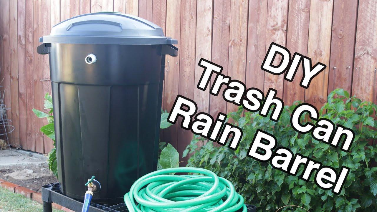 Best ideas about Rain Barrel DIY . Save or Pin DIY Trash Can Rain Barrel Now.