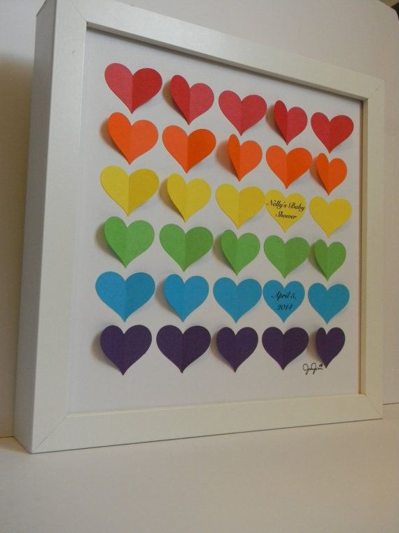 Best ideas about Rainbow Baby Gift Ideas . Save or Pin Baby shower guest book alternative rainbow baby shower Now.