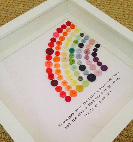 Best ideas about Rainbow Baby Gift Ideas . Save or Pin 35 button crafts A girl and a glue gun Now.