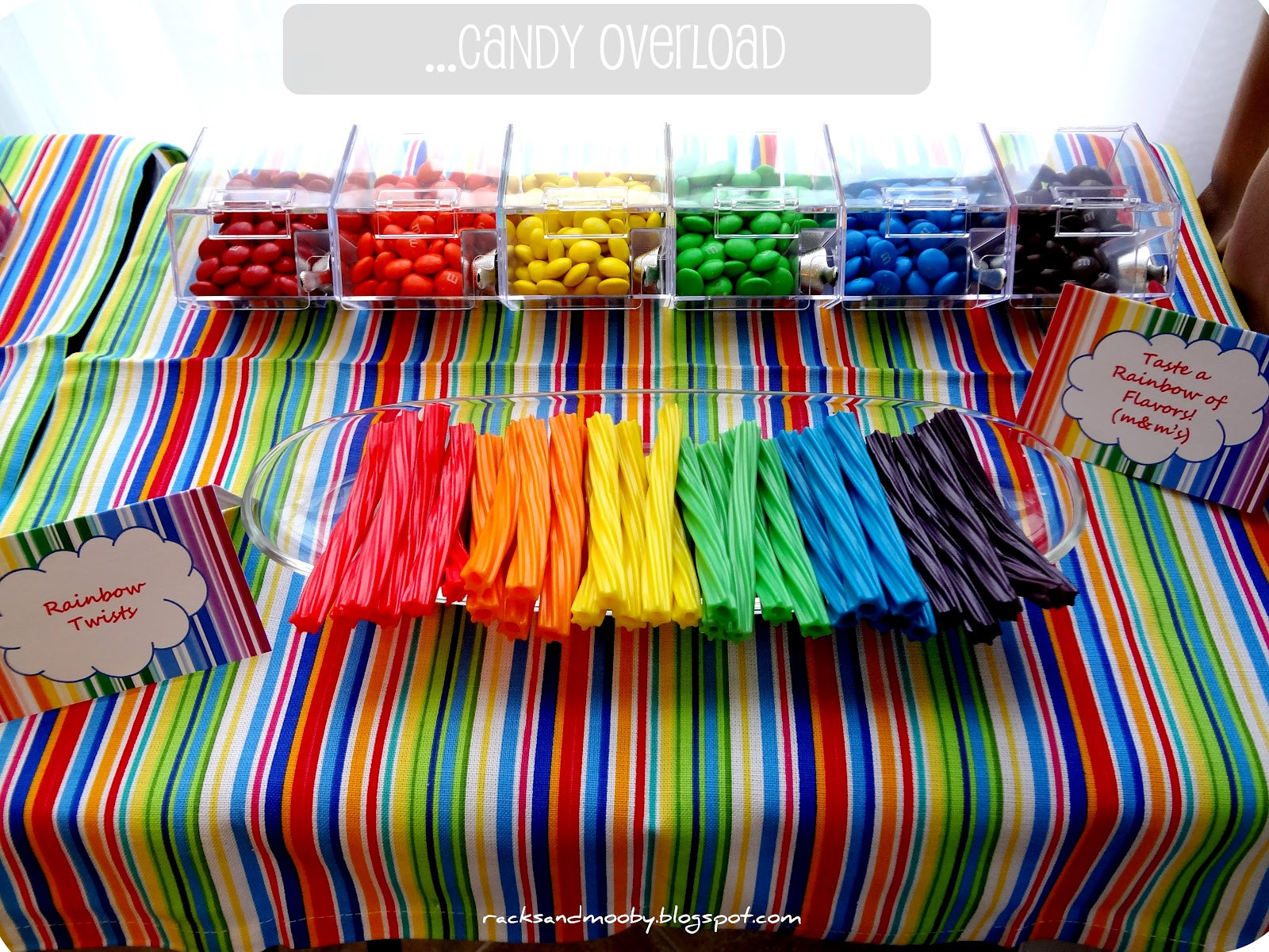 Best ideas about Rainbow Birthday Decorations . Save or Pin RACKS and Mooby Rainbow Birthday Party Now.
