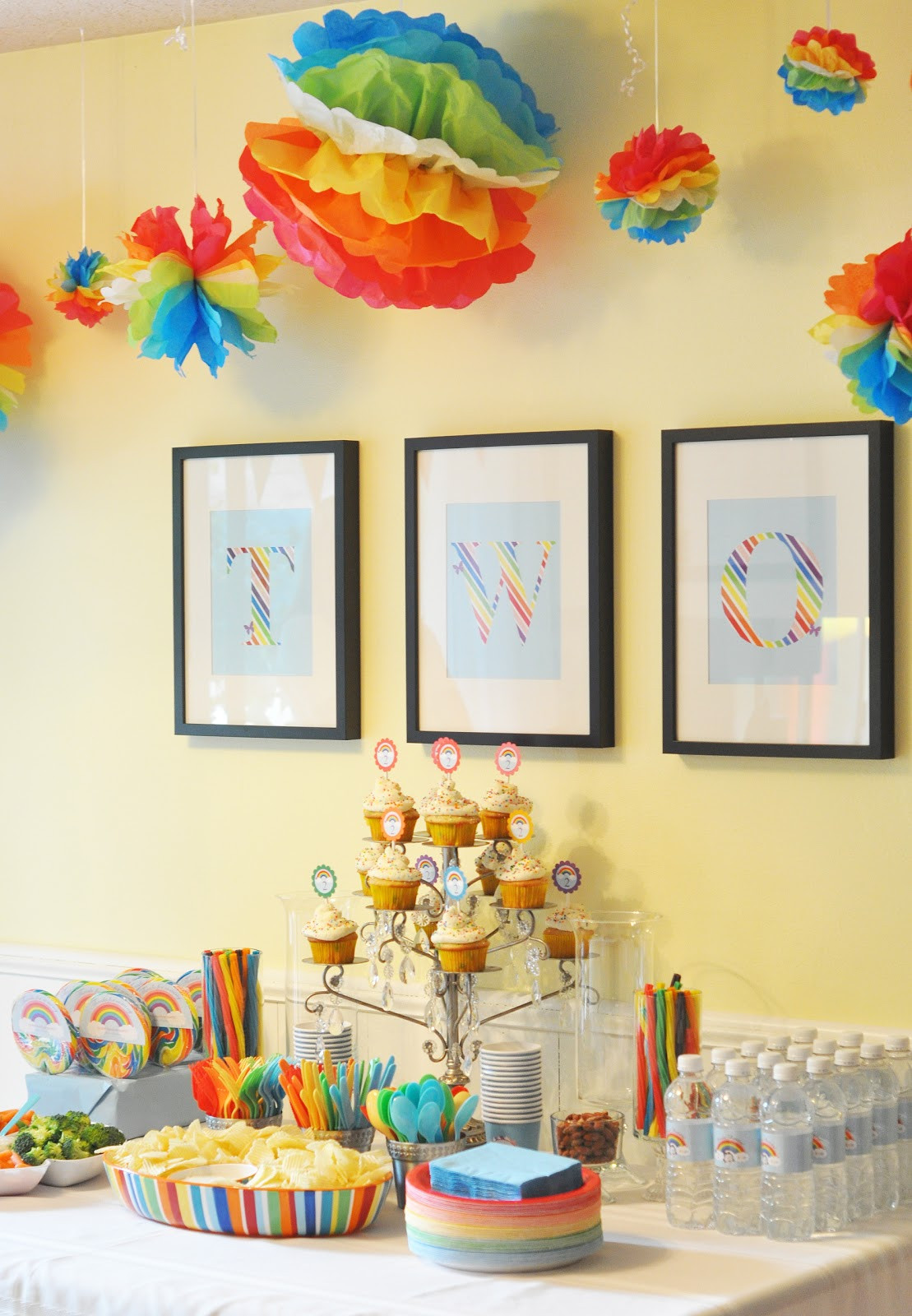 Best ideas about Rainbow Birthday Decorations . Save or Pin Craftily Ever After Now.